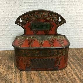 Vintage Allumettes Can