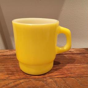 Fire King Stacking Mug :Yellow