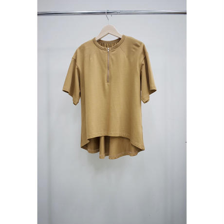Name. (ladies) : HALF ZIP TEE W/BACK GATHERED