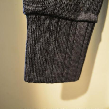 boncoura 2016AW 両Vセーター (メリノウール) ネイビー