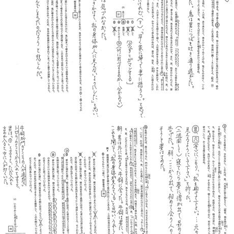 センター国語攻略マニュアル&過去問手書き解説プリントセット