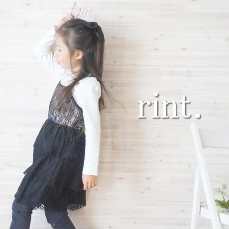 *SALE*ラスト1*カットソー&レースティアードワンピセット 《110》