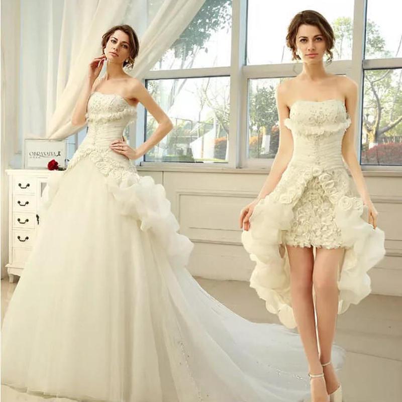 高級品質トレーンウェディングドレス 2way 新品 エレガント