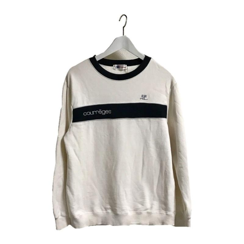 new authentic factory outlets promo codes courreges logo bi color sweat | épine
