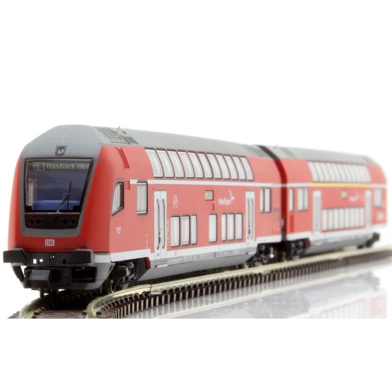"Trix 15776 Doppelstockwagen-Set /""Hanse-Express/"""