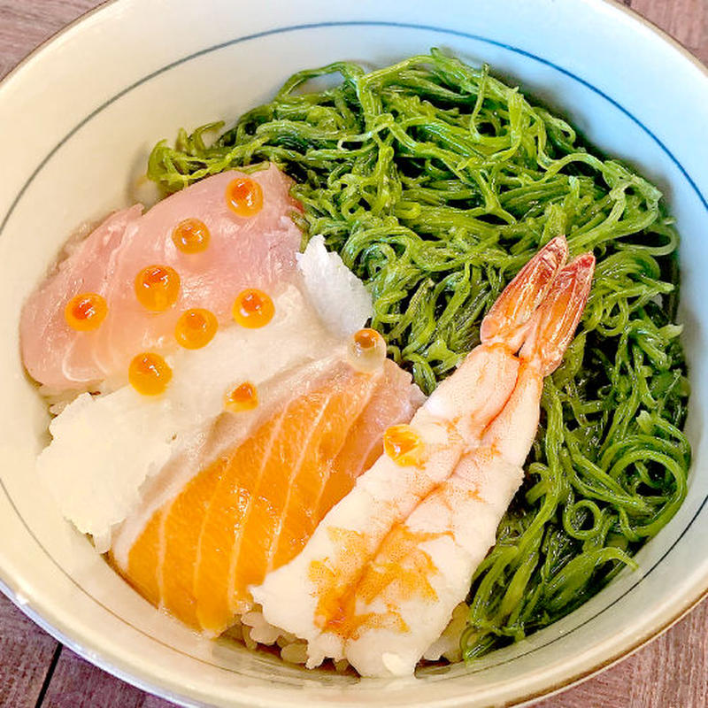 タレ サーモン 麺