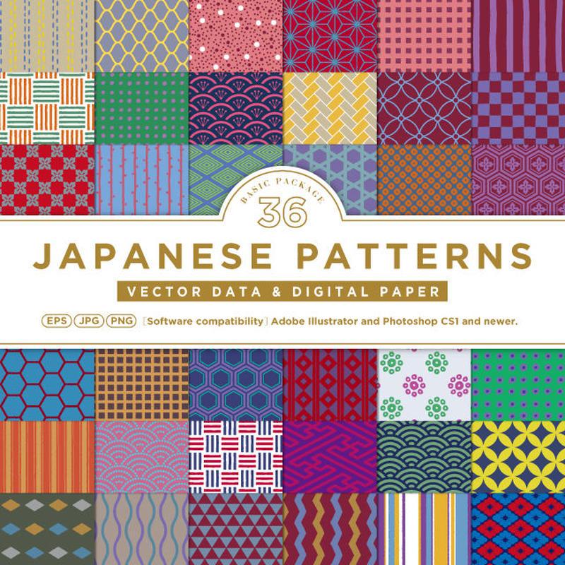 基本の和柄無料素材】全36アイテム | JAPANESE MON + iuen