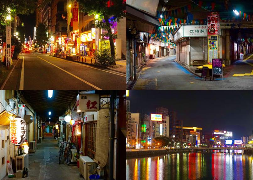 背景 No 003 夜景 夜の街並み 漫画の資料ドットネット