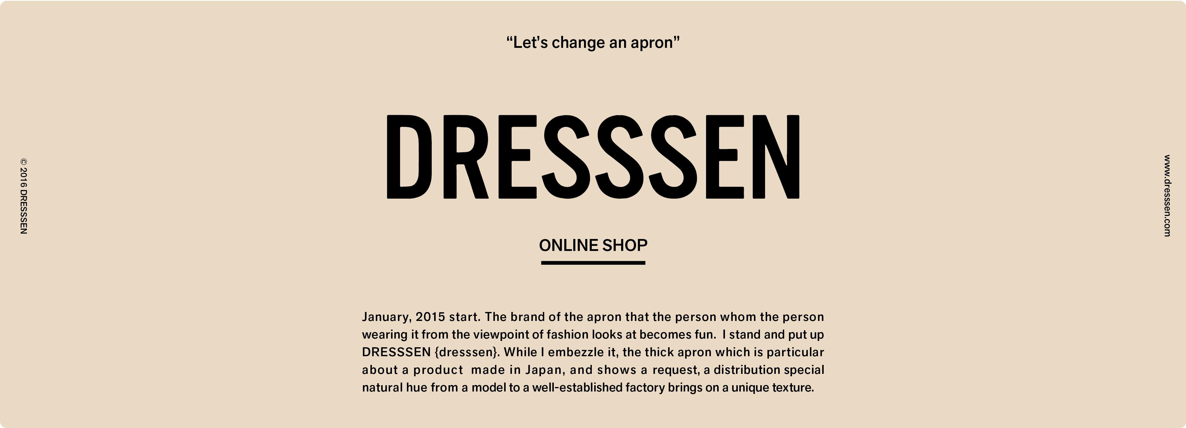 DRESSSEN公式オンラインストア