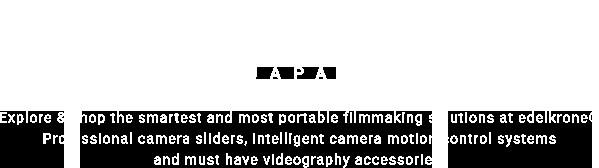 edelkrone 日本 | ドリー撮影ができるカメラスライダー、エーデルクローンWING等の販売