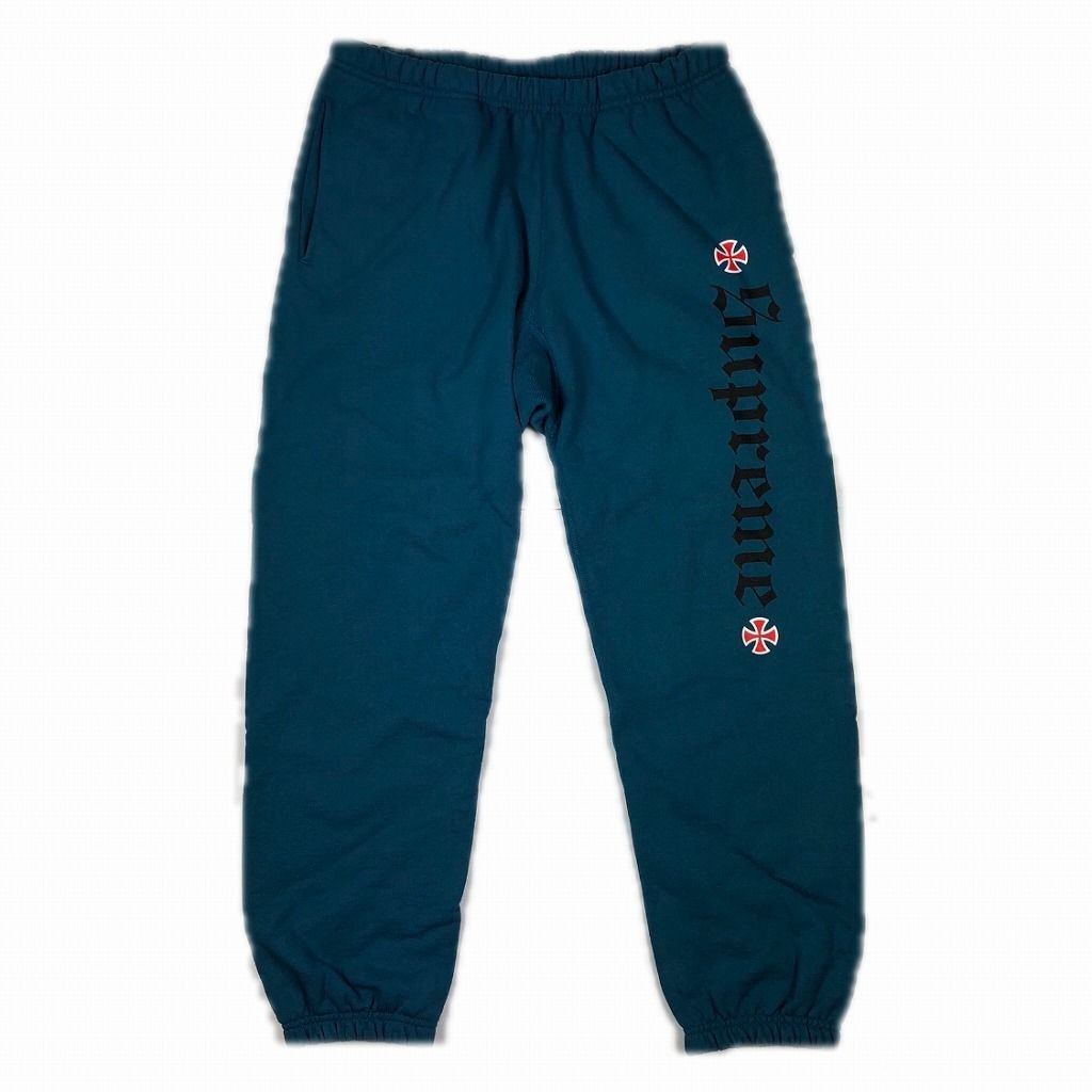 supreme-independent-fuck-the-rest-sweatpants-17aw-blue-s