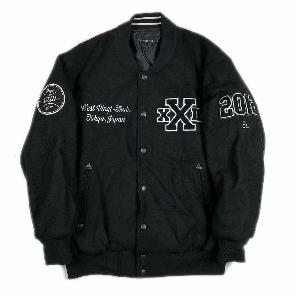 xxiii-cestvintgttrois-セバントゥア-varsity-jacket-black-l
