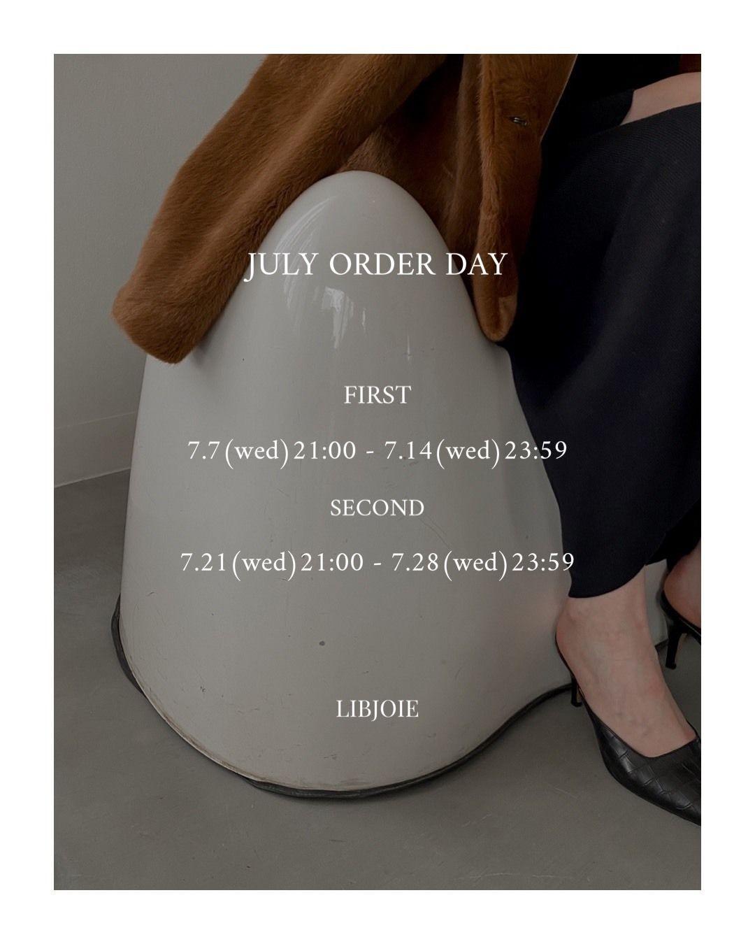 7月の新作受注発売期間