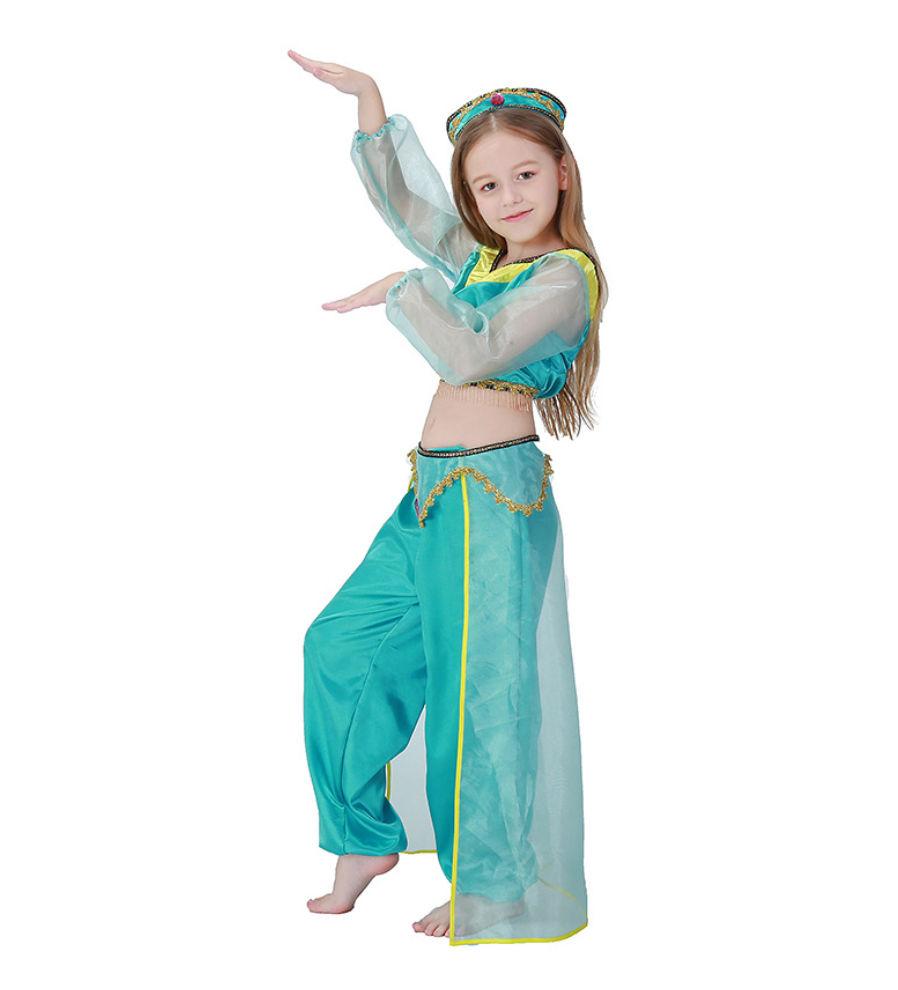 263370e06b39c ハロウィン衣装 キッズ衣装 アラジンと魔法のランプ コスプレ衣 ジャスミン風 プリンセス 親子.