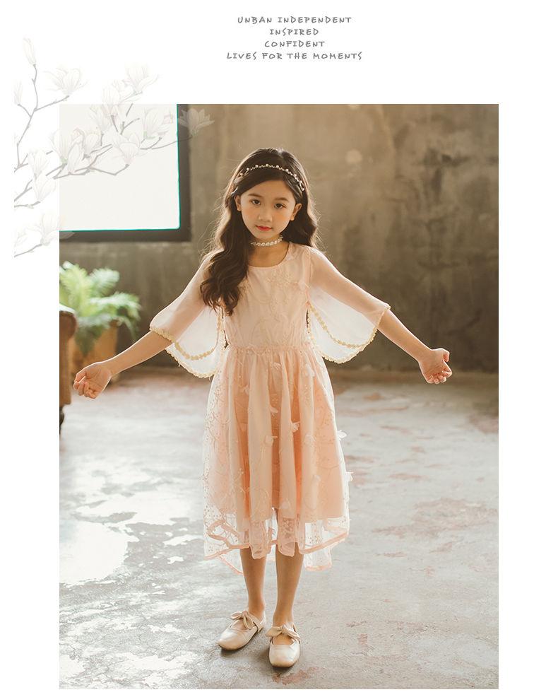 02233dafe6457 シフォン女の子ワンピース パーティー 結婚式 子供レース ワンピース 子どもドレス フォーマル.