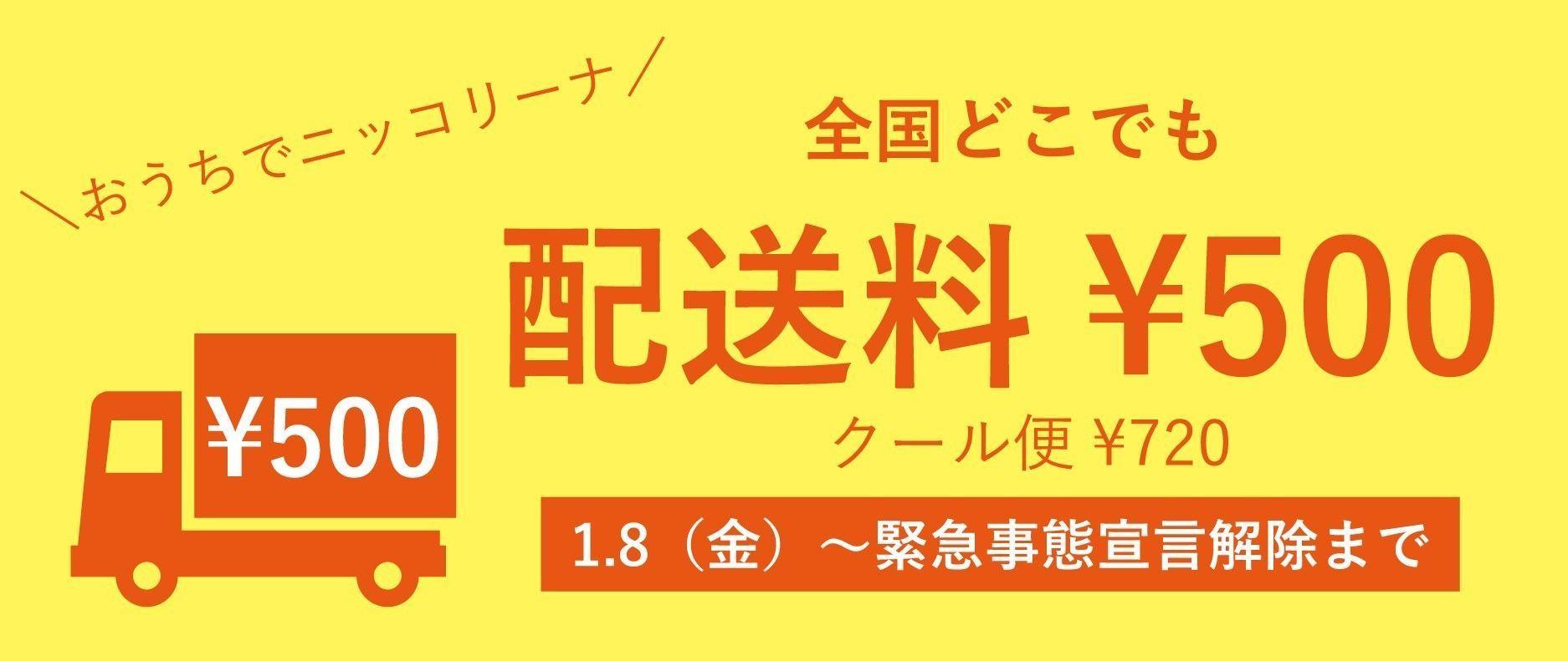 配送料500円キャンペーン