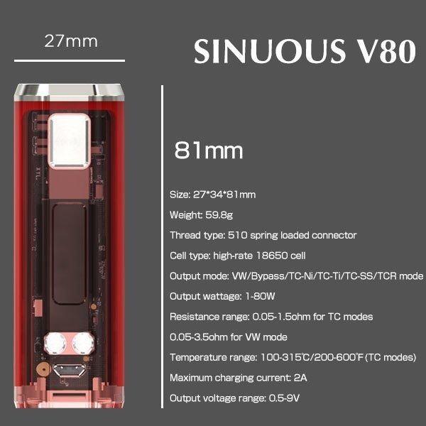 WISMEC SINUOUS V80 MOD