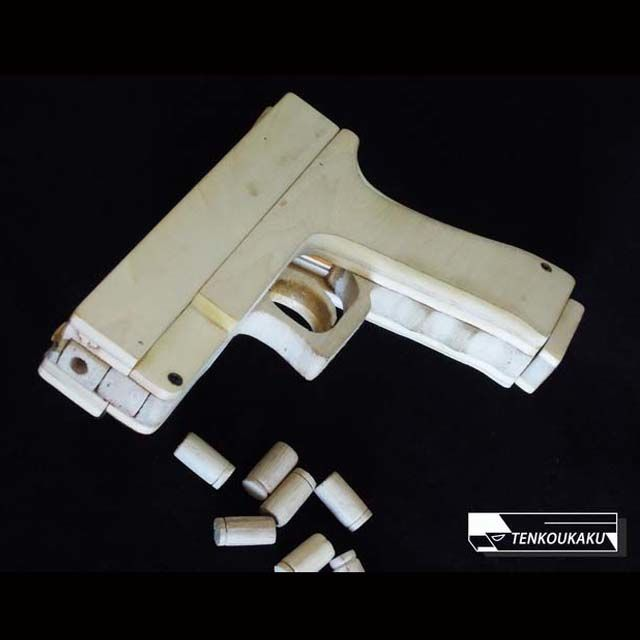 ブローバックする輪ゴム銃(排莢機能付)製作解説書・グロックタイプ Tenkoukakuの輪