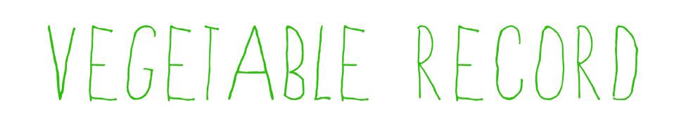 Vegetable Record Online Shop