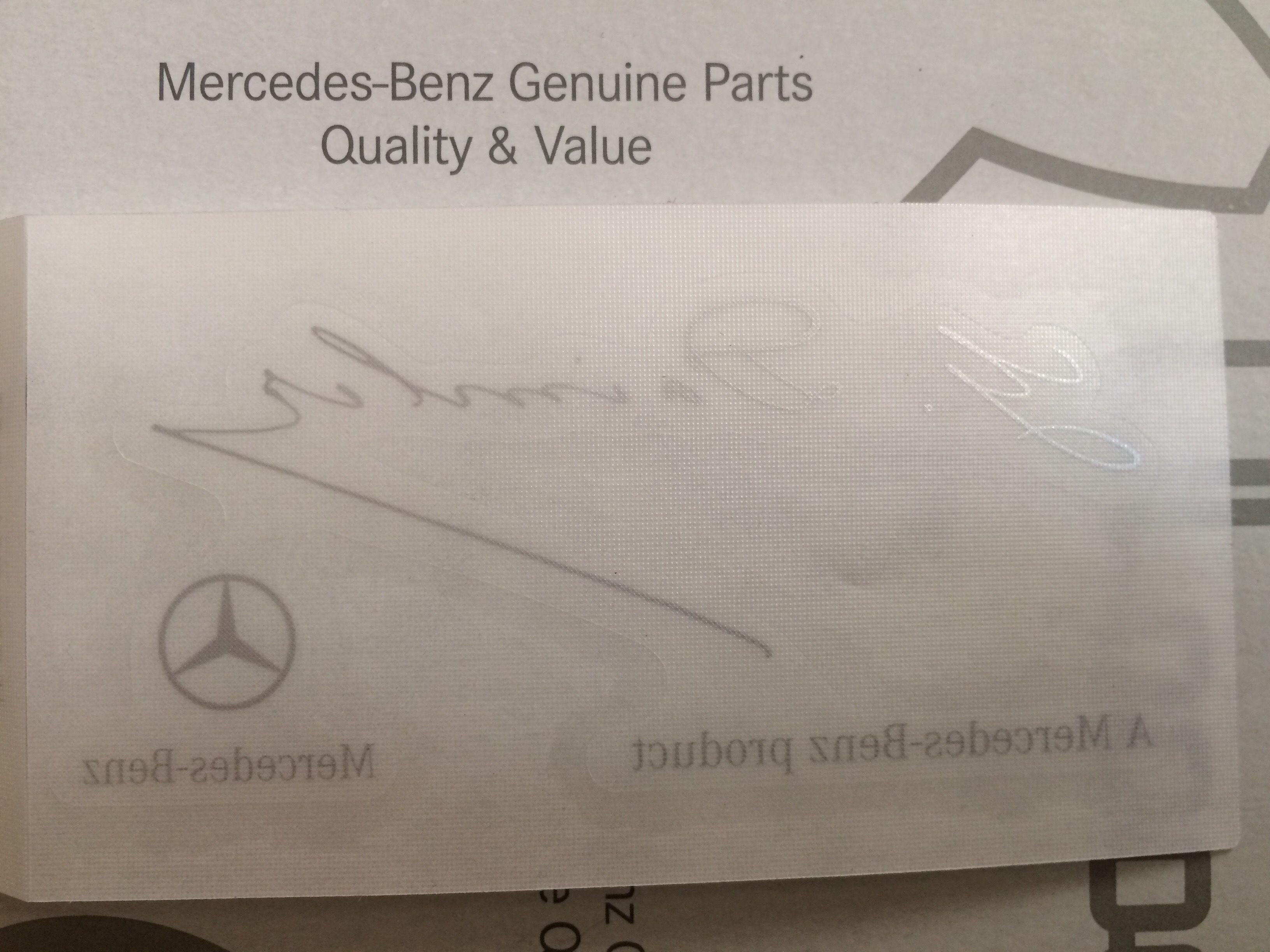 Mercedes Benz 北米 純正 フロントガラス ダイムラー ステッカー Welt