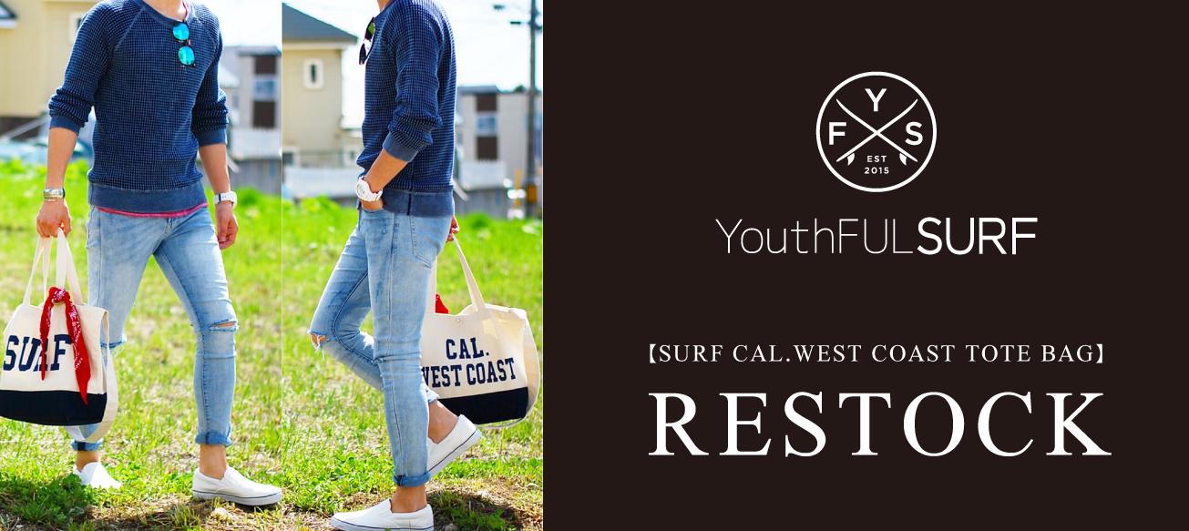 surf cal west coast tote bag 再販 youthful surf
